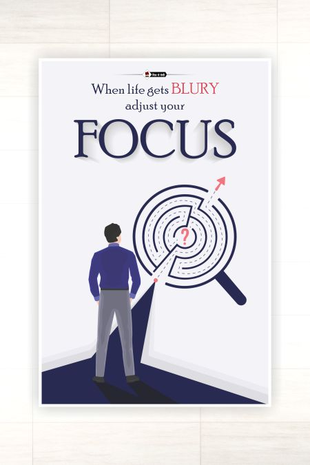 Focus On Your Goals Wall Poster mockup