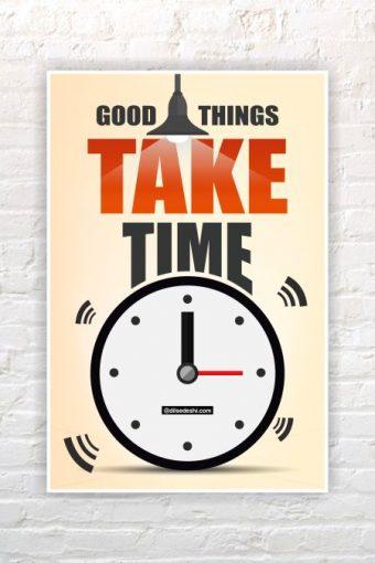 Good Things Wall Poster mockup