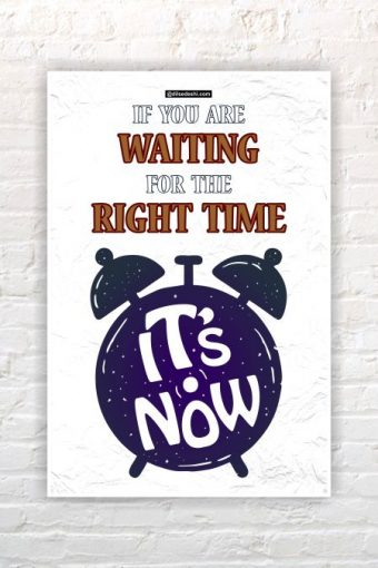 Right Time Wall Poster mockup