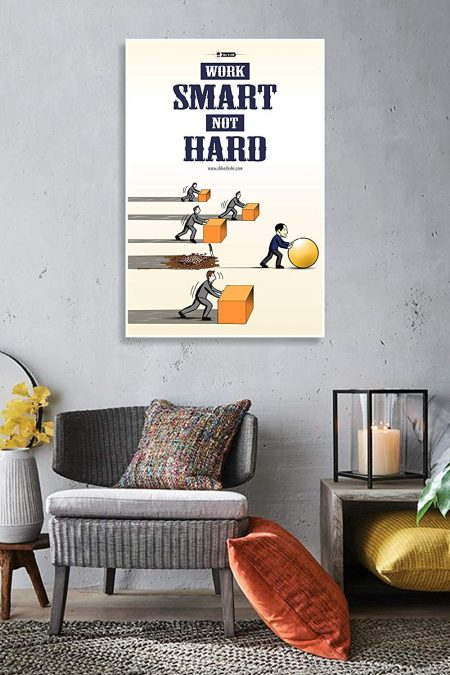 Smart Work Wall Poster mockup