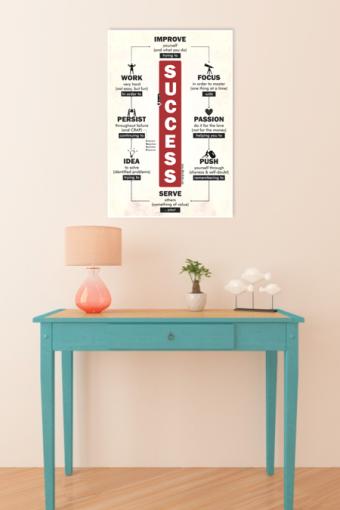 Workout Motivational Poster mockup