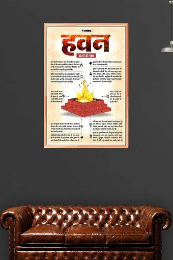 Benefits of Hawan Wall Poster mockup