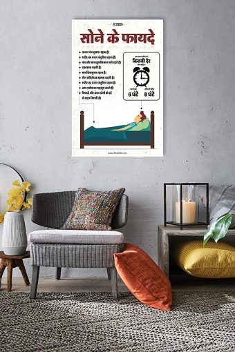Benefits of Sleep Wall Poster mockup