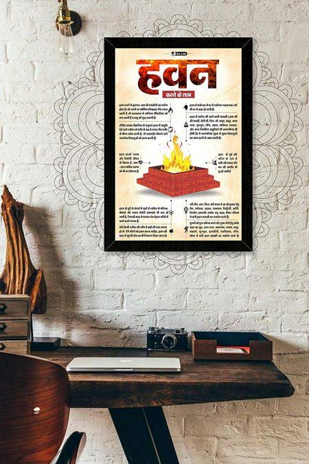 Hindu Religious (Hawan) Wall Frame mockup