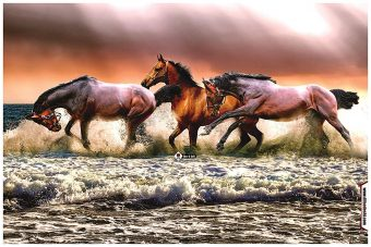 Horse scenery Wall Poster