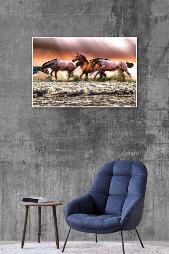 Horse scenery Wall Poster mockup