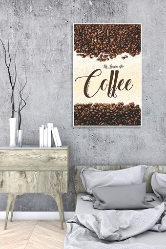 Life Begins After Coffee Wall Poster mockup