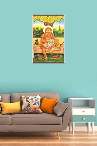 Lord Hanuman Wall Poster Mockup