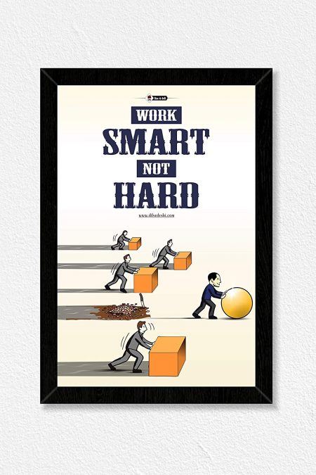Motivational Smart Work Wall Frame
