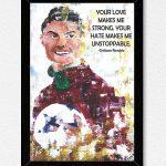 Ronaldo Quote Wall Frame