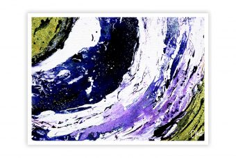 Abstract Fluid Multi Color Attractive Print Wall Poster
