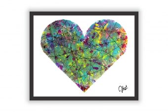 Abstract Heart Wall Decor Poster Print
