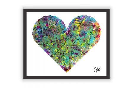 Abstract Heart Wall Decor Poster Print