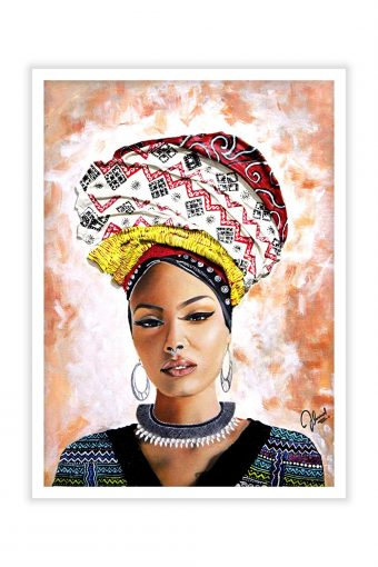 Beautiful Abstract African Lady Print Wall Poster