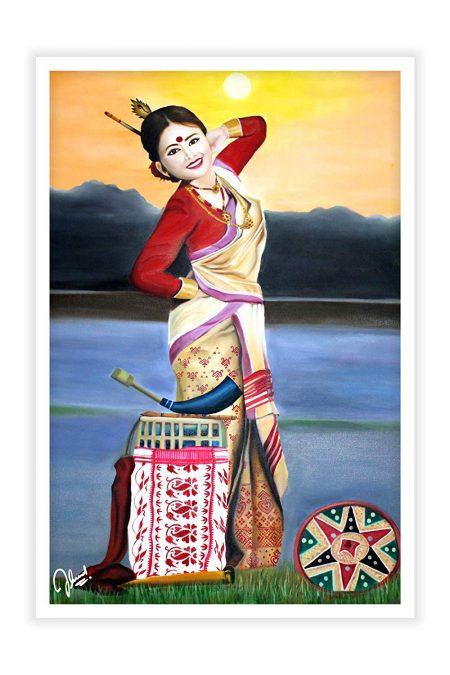 Beautiful Assamese Lady Poster Print