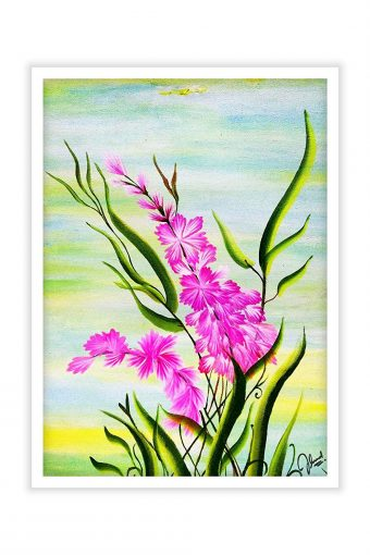 Beautiful Flower Nature Background Print Wall Poster