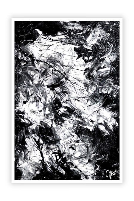 Black and White Abstract Modern Art Wall Decor Poster