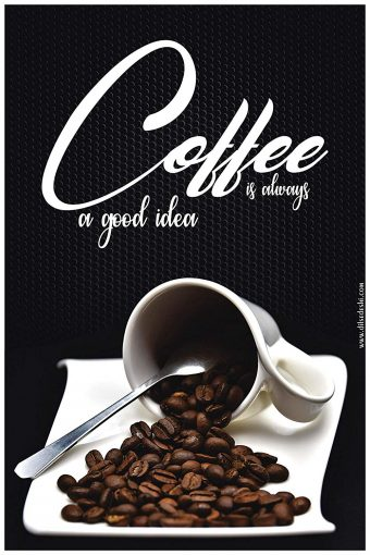 Coffee is Always a Good Idea Wall Poster