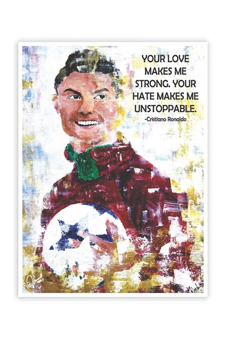 Cristiano Ronaldo Inspirational Quotes Wall Poster