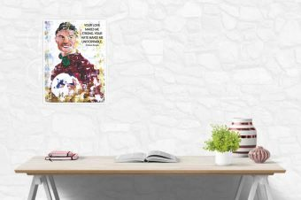 Cristiano Ronaldo Inspirational Quotes Wall Poster mockup