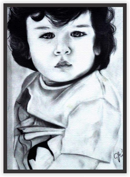 Handmade Taimur Ali Khan Sketch Print Wall Decor Poster
