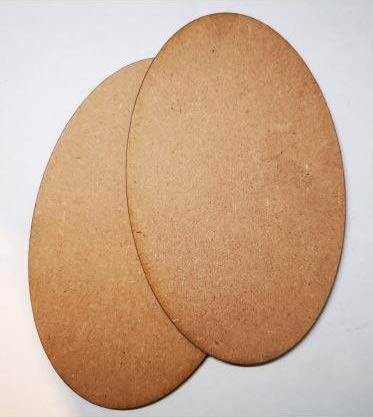 MDF Wood Oval Shape Art Boards [8 x 6 Inch]