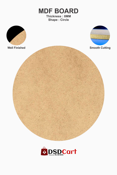 MDF Wood Round Shape Art Boards [12 x 12 Inch]