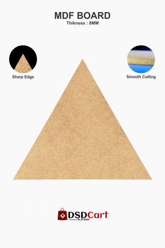 MDF Wood Triangle Shape Art Boards [12 x 12 Inch]