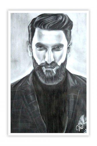 Ranveer Singh Sketch Wall Decor Poster