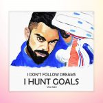 Virat Kohli Multi Color Attractive Print Wall Poster