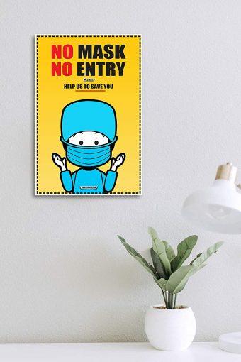 No Mask No Entry Wall Poster mockup
