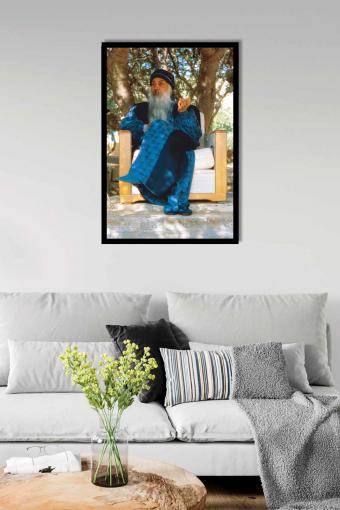 Osho Blue Wall Frame Mockup
